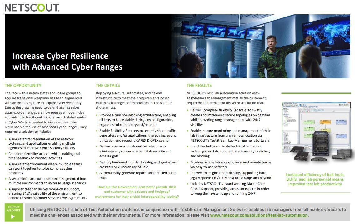 Military Cyber Range Use Case
